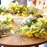 【ミモザの季節】ワークショップとプチ花屋さん